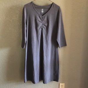 NWT Merrell L 3/4 Sleeve Gray Dress